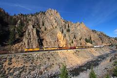 Byers Canyon manifest (Moffat Road) Tags: unionpacific up manifestfreight freighttrain freight mnyro upmoffattunnelsubdivision moffattunnelsub canyon sulphur colorado hotsulphursprings byerscanyon coloradoriver trainrailroad locomotive co