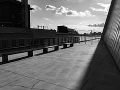 Outside at the Whitney (nydavid1234) Tags: iphone nydavid1234 newyork urban skyline manhattan whitney whitneymuseum building architecture shadow chiaroscuro vanishingpoint structure monochrome blackandwhite bw tonal nopeople