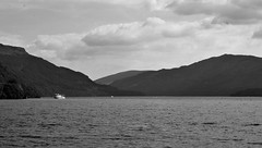 Loch Lomond, Summer 2016 (brightondj - getting the most from a cheap compact) Tags: scotland thetrossachs dslr lochlomond mountains water lake loch landscape bw inversnaid firstwalk summer2016 holiday summerholiday uk britain ukholiday