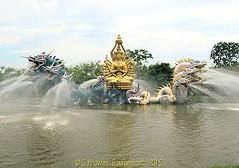 Bodhisattva Avalokitesavara, Kuan -Yin, performing a miracle, The Ancient City, Muang Boran, Samut Prakan Thailand. (samurai2565) Tags: samutprakan samutprakanprovince thailand ancientsiam ancientcity muangboran sukhumvitroad bangkok lekviriyaphant bangpu