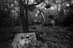 07 (rtw1r) Tags: rtwlr urbanexploration urbex  russia abandoned ruins decay carousel abandonedcarousel childrens camp darkness darkplace dark analogphotography filmphotography film 35mm blackandwhite bw tasma d76