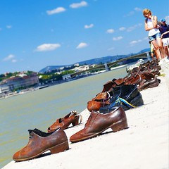 One of the more haunting holocaust memorials I've visited. Empty bronzed shoes scattered along the Danube keeping memories alive. You can't help but wonder who once walked in these and where. And what became of them. (momfluential) Tags: one more haunting holocaust memorials ive visited empty bronzed shoes scattered along danube keeping memories alive you cant help but wonder who once walked these where and what became them