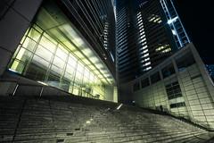 Raumschiff Commerzbank (Kevin Chileong Lee) Tags: frankfurt nacht schwarzweis architektur auserirdisch commerzbank deutschland fineart hessen hochhaus raumschiff tower wolkenkratzer