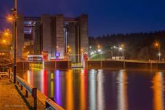 Schiffshebewerk (wernerlohmanns) Tags: lichter nachts reflexionen langzeitbelichtung deutschland niedersachsen