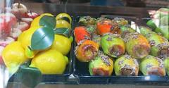 Friday Colours - Lemons and Prickly Pears (Pushapoze) Tags: italia italy sicilia cefalu fichidindia frutamartorana limoni lemons pricklypears marzipan massepain citrons