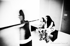 Maxxi Extraordinary Visions (francesco_if ) Tags: maxxi museo visions visioni ghost blackandwhite biancoenero people mosso slow
