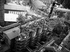 View from Above (WrldVoyagr) Tags: hochofen blastfurnace deutschland photowalk germany gx7 500px blackandwhite duisburg bw panasonic lumix landschaftsparknord nordrheinwestfalen de