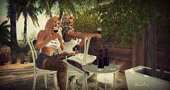 [ quality  time ] (BijankRau | [ photograp'r model.]) Tags: treschic lw secondlife poses girlfriends wine red blondes dutch sl event brau photography blogger
