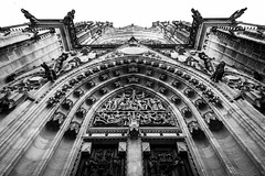 St. Vitus Cathedral (bloodwithmilk) Tags: architecture buiding blackwhite black white bw nikon d800 tokina prague czech noiretblanc light summer old symmetry