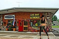 Ice Girl's Favorite Bait Shop (chumlee10) Tags: ice girl bait shop mercer wi wisconsin