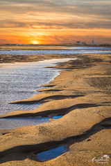 Walking to Race Point Light for Sunset (by Amy Davies, Plymouth, MA) Tags: 2016 canon6d massachusetts provincetown workshop racepointlight golden rivulets deepsand walkingonsand hatchescove capecod
