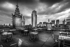 Rooftop. Tour et Taxi, Brussels (andrewhardyphotos) Tags: architecture bw belgique belgium blackwhite brussels brusselsheritageday bruxelles nikond7200 rooftops tokinaatx116prodxii1116mmf28 tourettaxi wideangle monochrome cityview