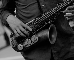Me and my Old Sax (LeBlanc_Nigel) Tags: music instrument sax old musician tune black white