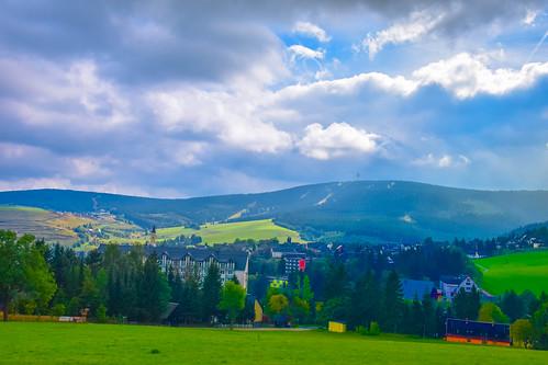 Oberwiesenthal Blick auf Keilberg