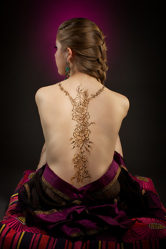 Henna tattoo on the back
