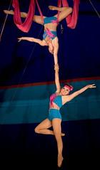 The Delara Duo (Partridge Road) Tags: illinois mt circus duo zion act cradle delara kellymiller