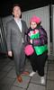 Stephen Mulhern and 'Celebrity Hugger' Tania McIntosh Celebrities leave the 'Britain's Got Talent' studios after the live show London, England