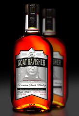 "Whiskey bottle design - ""The Goat Ravisher"" (Dis Satisfied) Tags: design whiskey spirits alcohol packaging packagedesign neckbeard beastiality sexwithanimals yeeeeeeeeeeeeeeeuuuupppp"