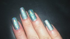 Layla Jade Grove Konad accent nail A England (scratchureyesout) Tags: polish mani nails manicure stgeorge layla holographic holo konad aengland scratchureyesout jadegrove