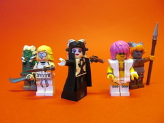 StarWars Force User and her hand Maidens (Hammerstein NWC) Tags: star starwars lego head stormtrooper wars custom tails arealight mmcb minifigcat brickwarriors lekkhu