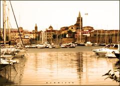 Alghero (ambrogio_mura) Tags: sardegna sea beach boat tramonto mare sardinia yacht barche porto alghero alguer ittiri