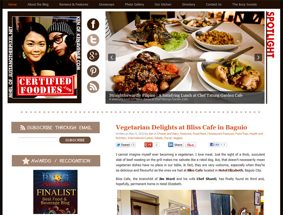 New layout of CertifiedFoodies.com