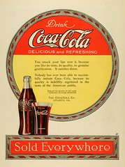 1919 Ad Coca Cola Polychromic part of hobble s...