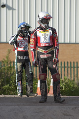 Jaimie Pickard and Gary Irving (Richard Amor Allan) Tags: bike mud bikes cycle stokeontrent rider speedway cycles riders motorcyles scunthorpesaints stokepotters loomerroad jaimiepickard garyivring