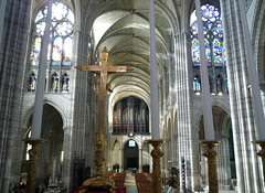 View from Altar to Narthex, Basilica of St. Denis
