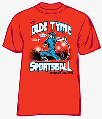 olde tyme sportsball (1SHTAR) Tags: sports shirt ball print logo design graphic baseball screen illo bb tee olde tyme