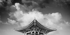 stingray, 2011 (p r i m e r) Tags: california blackandwhite panorama monochrome architecture clouds sanpedro friendshipbell threeshotstitch