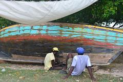 repairing boat at Ile a Vache (luca.gargano) Tags: travel haiti caribbean gargano ayiti lucagargano ayti