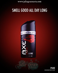 Axe Ad (Julia Grace Arts) Tags: advertising graphicdesign ad axe deodorant bodyspray productphotography commercialphotography
