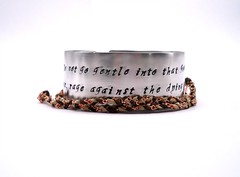 rage bracelet (MerCurios) Tags: fashion poem hand handmade jewelry indie bracelet corset bangle etsy cuff custom stamped personalized mercurios mercuriosjewelry