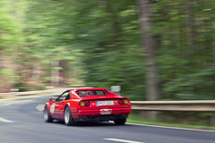 EifelClassic-17 (motion_captured) Tags: park trees red classic cars forest vintage woods automobile rally ferrari racing eifel national winding roads motorsport gts timetrial 308 cornering nurburgring