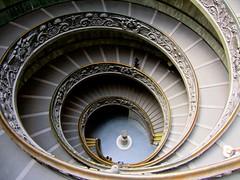 Vatican Museum Staircase (Joe Parrilla) Tags: italy vatican rome museum stairs spiral vaticanstairs blinkagain