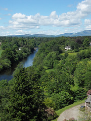 View from Doune Castle (davidmcnuh) Tags: castle river scotland view historic stirlingshire doune teith