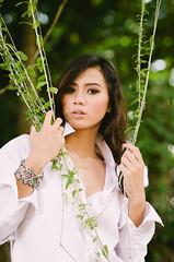Maya #1 (eggysayoga) Tags: portrait bali woman white sexy film shirt indonesia asian model nikon women bokeh 85mm portraiture oriental 18 sanur f18d tfb vsco d7000 tamanfestivalbali mayaseptira