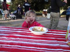 bfast for sara (maureenld) Tags: camping friends food fun 40th bash sara may db annual pinnacles 2012 pinnaclesnationalmonument bethereorbesquare desertbash btobs