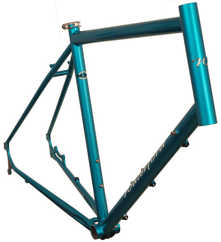 <p>This design combines the toughness, creature features and load carrying capacity of a touring frame with our chainstay mounted disc brakes.  Chainstay mounting makes it easy to mount fenders and a rear rack.63426</p>