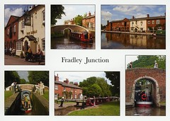 PC 504 Fradley (Sheila Halsall) Tags: uk vacation england water boat canal swan pub britain postcard junction trent coventry staffordshire narrowboat mersey waterway waterways theswan trentandmersey fradley fradleyjunction halsall coventrycanal sheilahalsall