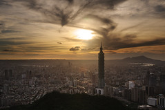 ( ) Tags: light sunset mountain night temple cityscape 101  taipei101     2012   101            95   251