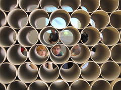 Honeycomb (Rambling Badger) Tags: people architecture fitzrovia tubes cardboard fcbstudios