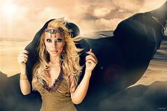 The Queen of Desert (soygilflores) Tags: girl beauty reina sand desert dunes queen arena desierto dunas