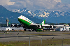 Eva Air B-16407 Jun 30 12 EVA6607 PANC RJBB (AK Ween) Tags: ted alaska eva air stevens cargo international anchorage boeing 747400 744 panc b16407
