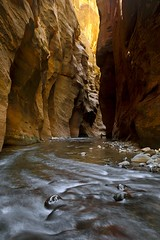 Hiking Solo (daveinhst) Tags: park river utah sandstone rocks solitude canyon hike virgin national zion slot narrows 623 070212