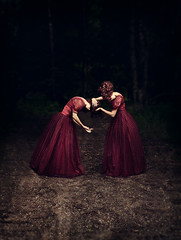 Trust and forgiveness (sparrek) Tags: road woods reddress alwaysexc sparrek