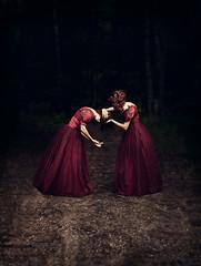 Trust and forgiveness (sparrek) Tags: road woods reddress alwaysexc sparrek