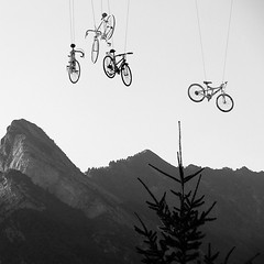bikes in the sky (kosta le rouge) Tags: france bikes olympics albertville