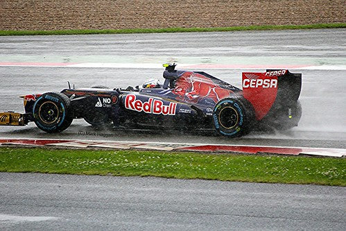 Jean-Eric Vergne in his Toro Rosso at Silverstone